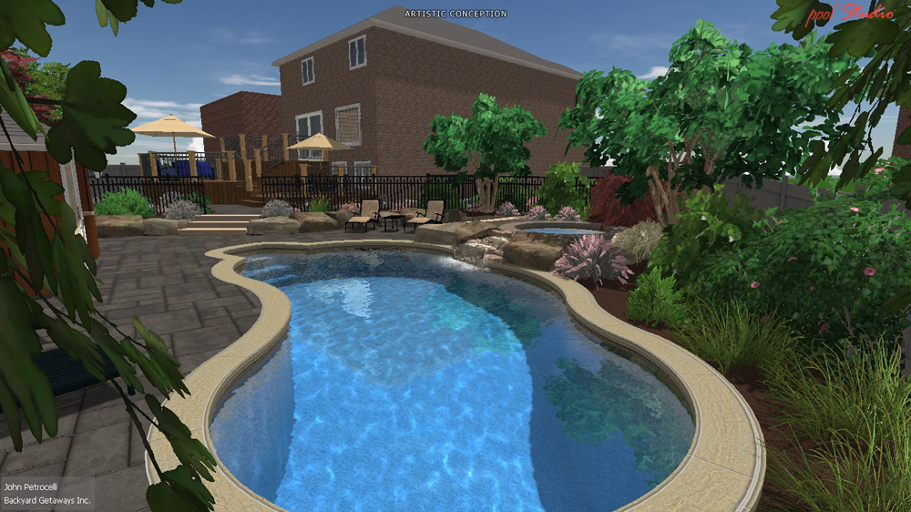 Pools For Small Backyards Toronto : Backyard Getaways  Custom Swimming Pools & Backyards Toronto