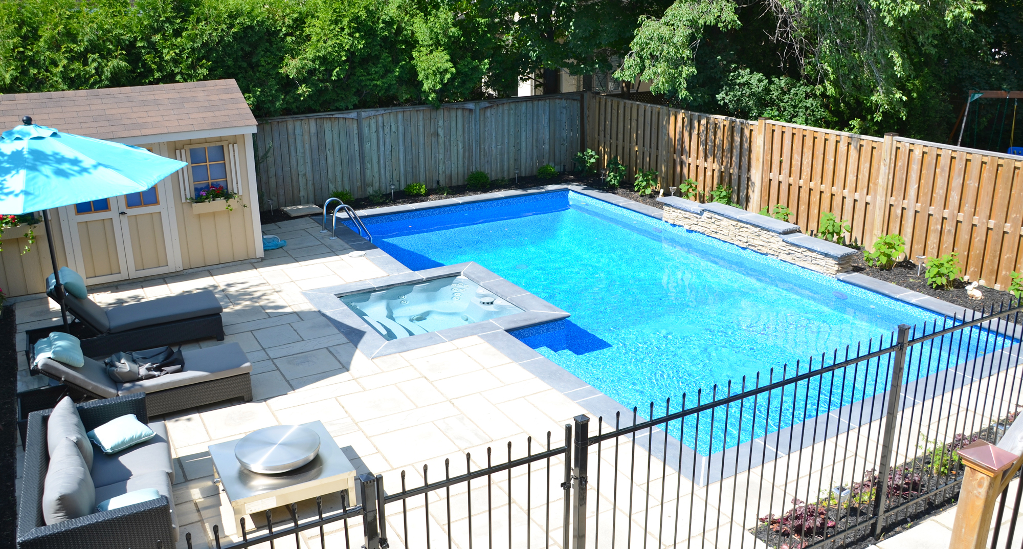 Backyard getaways custom swimming pools backyards toronto - Swimming pools for small backyards ...